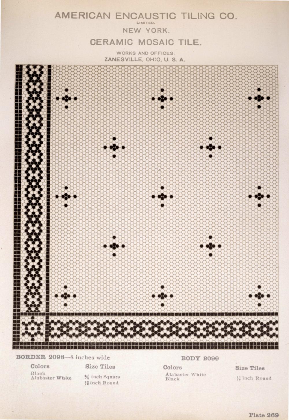 Vintage Tile Catalog Pattern