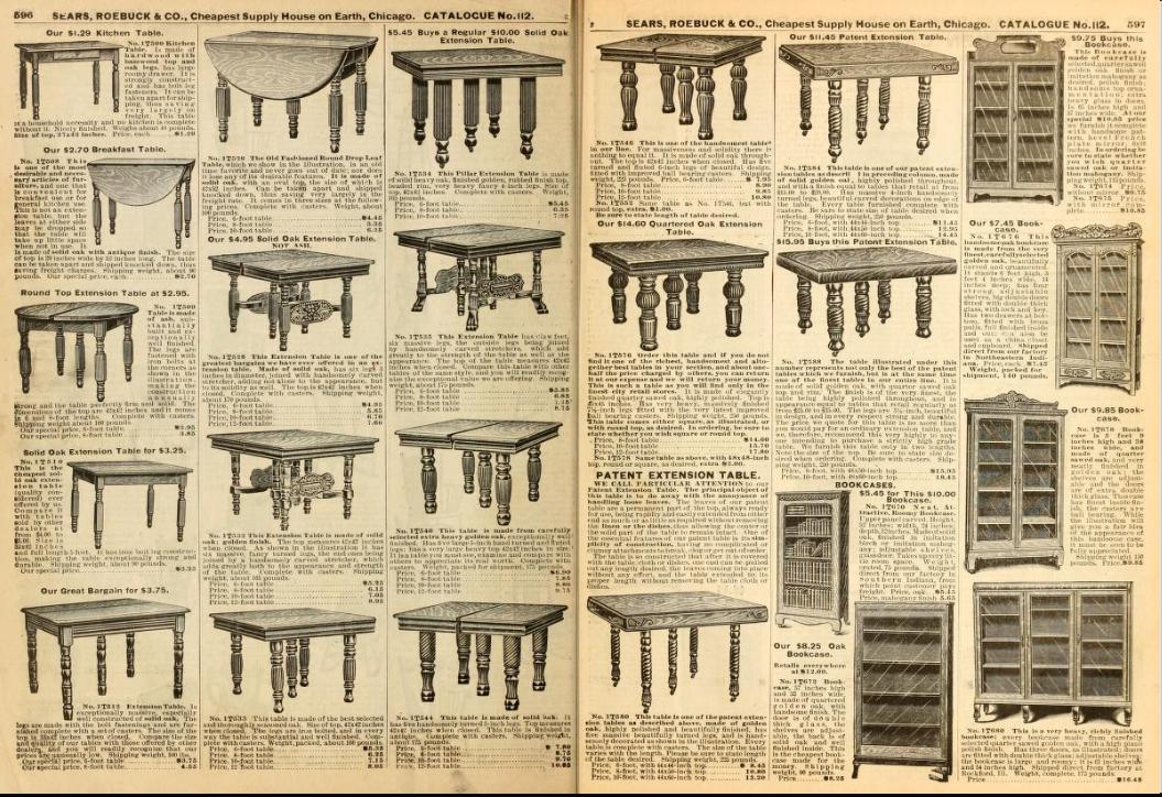 From Sears Catalog no. 112. 1906.