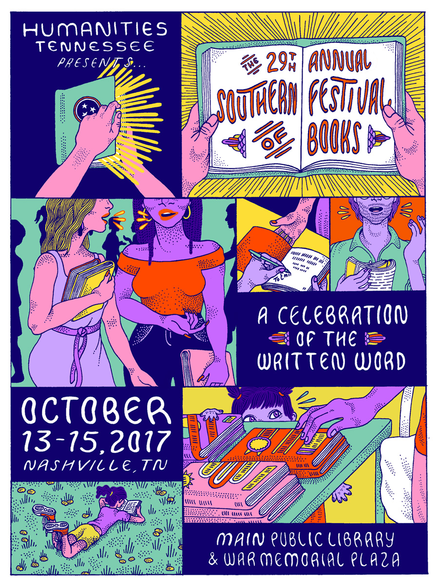 Southern Festival of Books - I just moved to Nashville, Tennessee. The hardest part of being a writer is the inevitable isolation that this art form forces upon us. I'm slowly stalking a literary community in this town and am excited to volunteer at the Southern Festival Books. Join me in making Music City a little more literary (if only for one weekend).