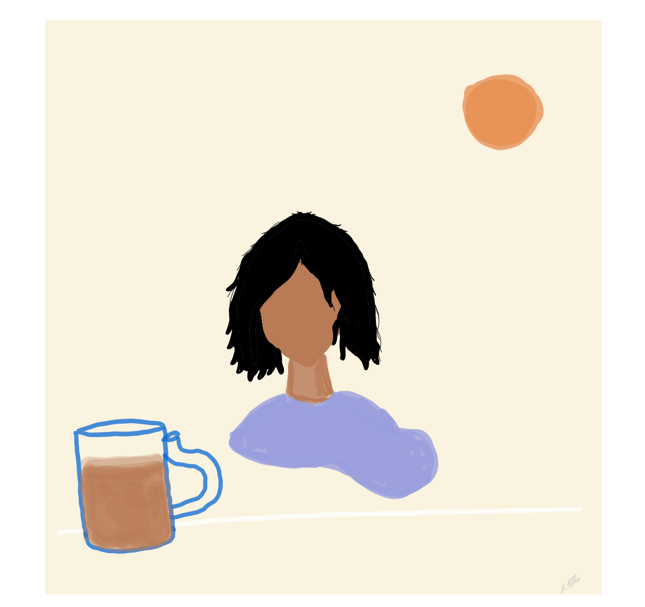 Sis in the Hot Sun . I illustrate all the imagery on the website they are goofy and imperfect but I love all the colors the most