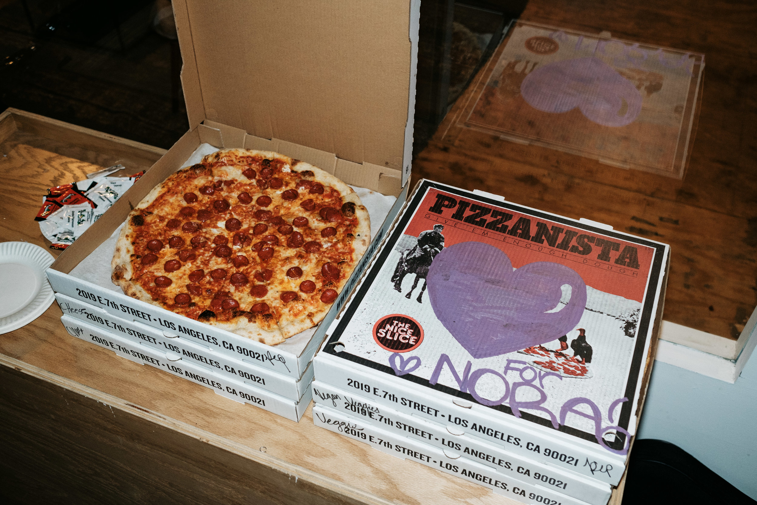 Pizzanista supplied the food to soak up all the free Pabst.
