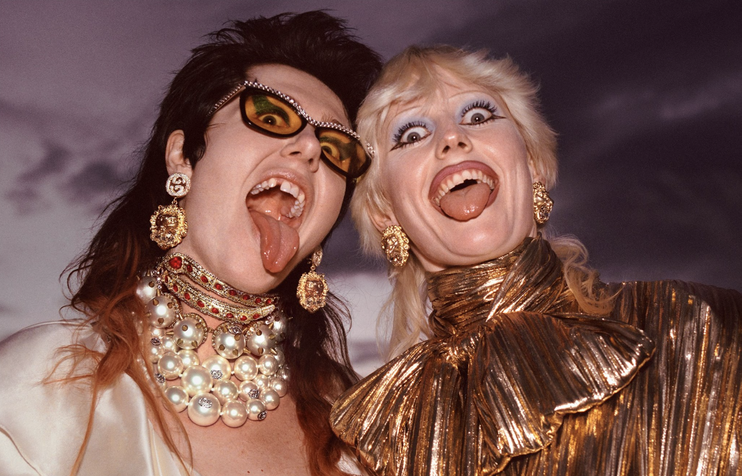 Dani and Amy Taylor from Amyl and The Sniffers appear in the Gucci Pre-Fall 2019 campaign