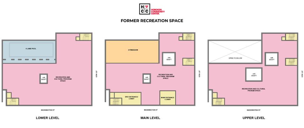 Hoboken Community Center Floor Layouts