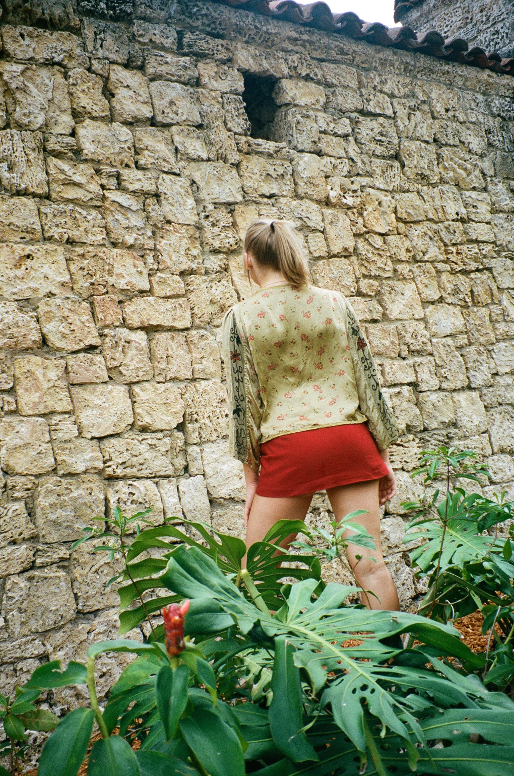 cobblestone garden -
