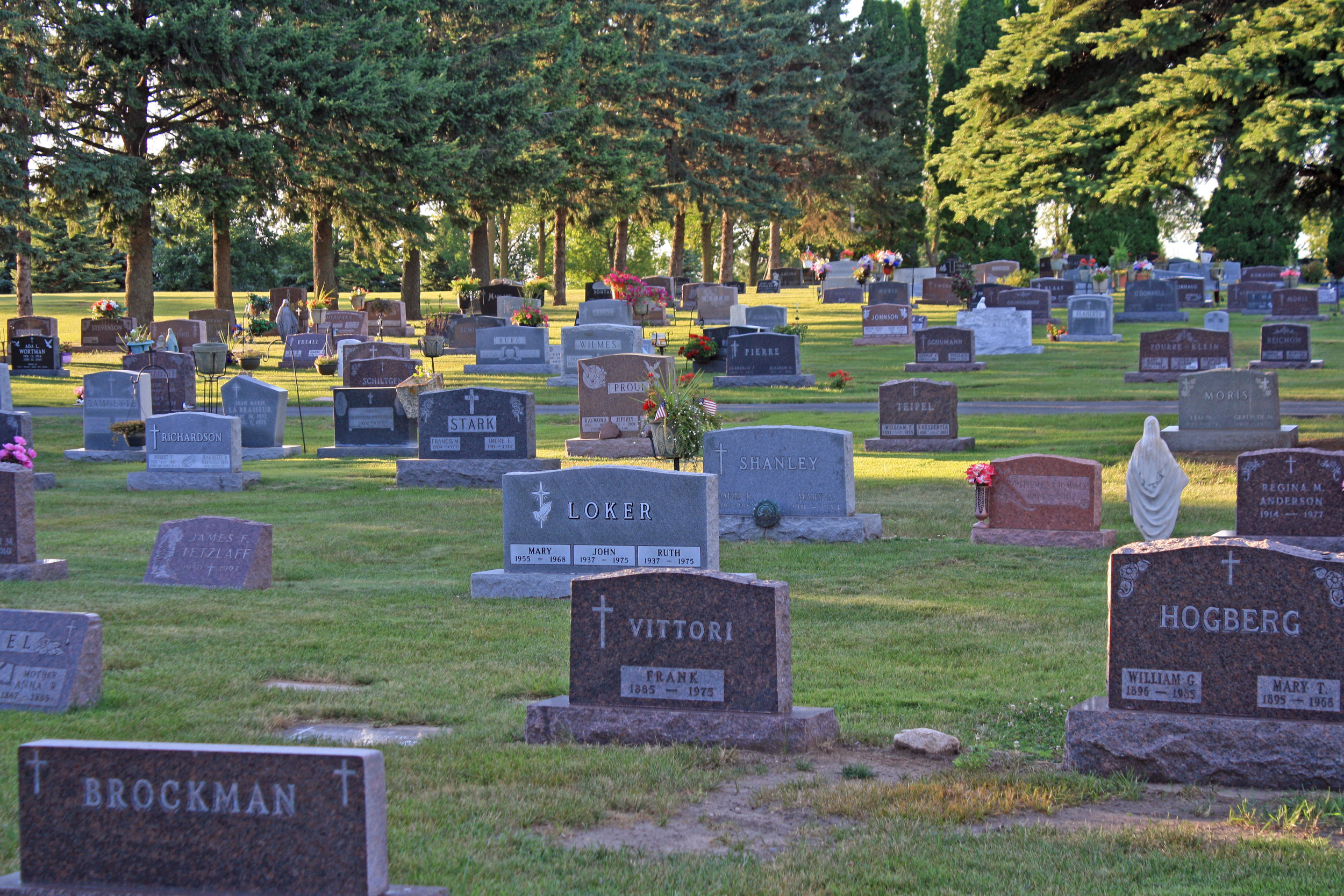 Grave stones in a cemetery