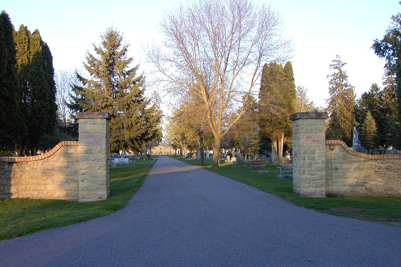 Stone entrance to a cemetery