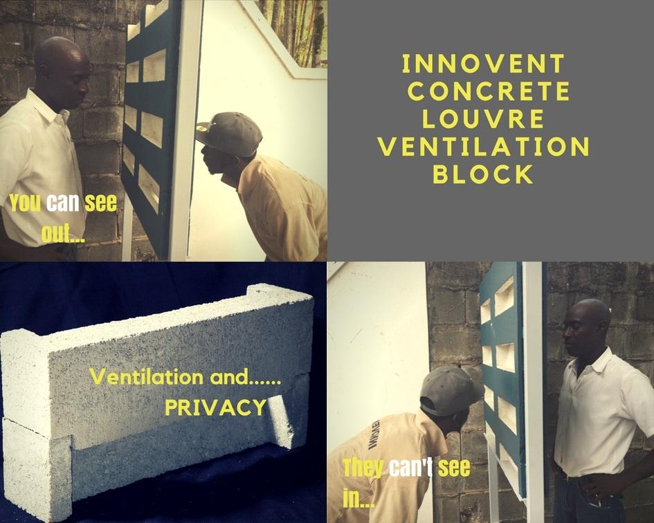 Innovent Concrete Louvre Ventilation Block