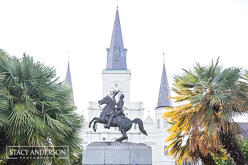 The St Louis cathedral was built in 1794 and is the epicenter of Jackson Square in the French Quarter.