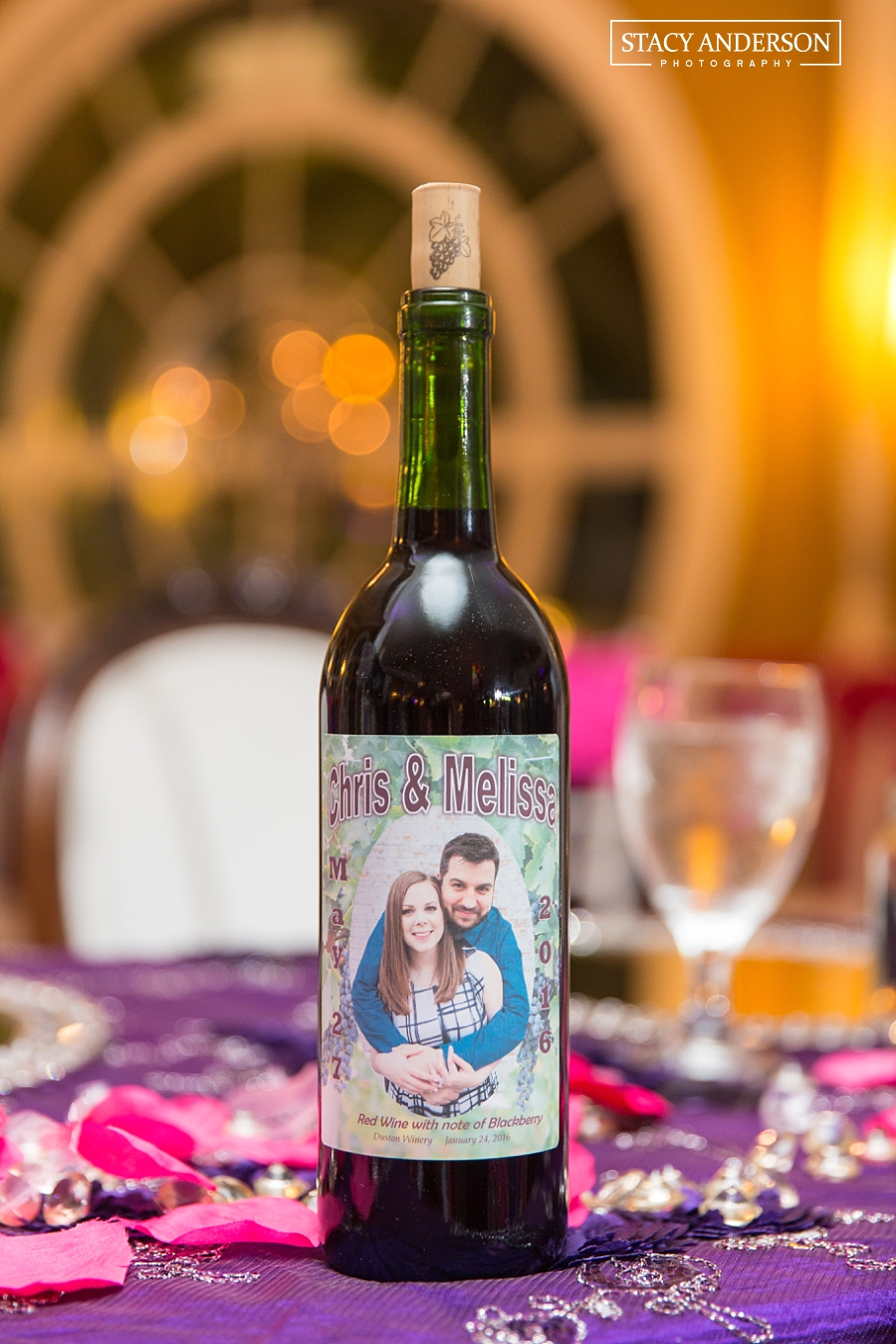 Custom wine and labels made by a family friend