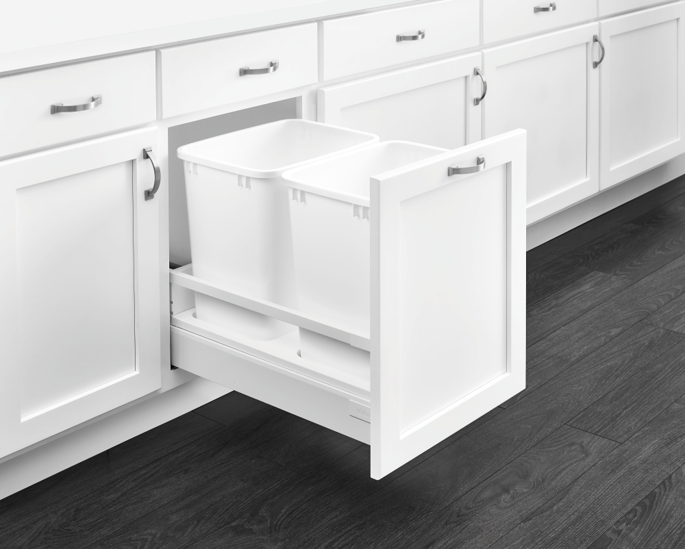 Double 35 qt. white containers