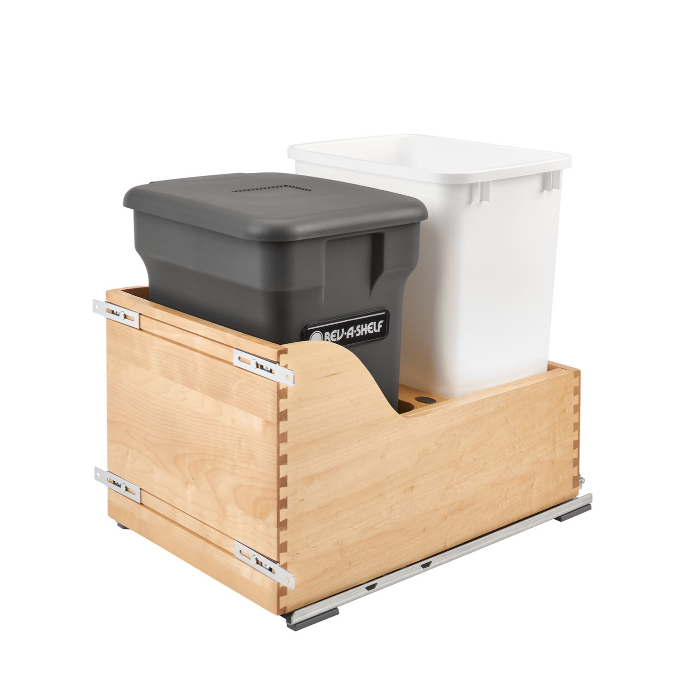 6-gallon Compo+ bin and white 35 qt. polymer waste container