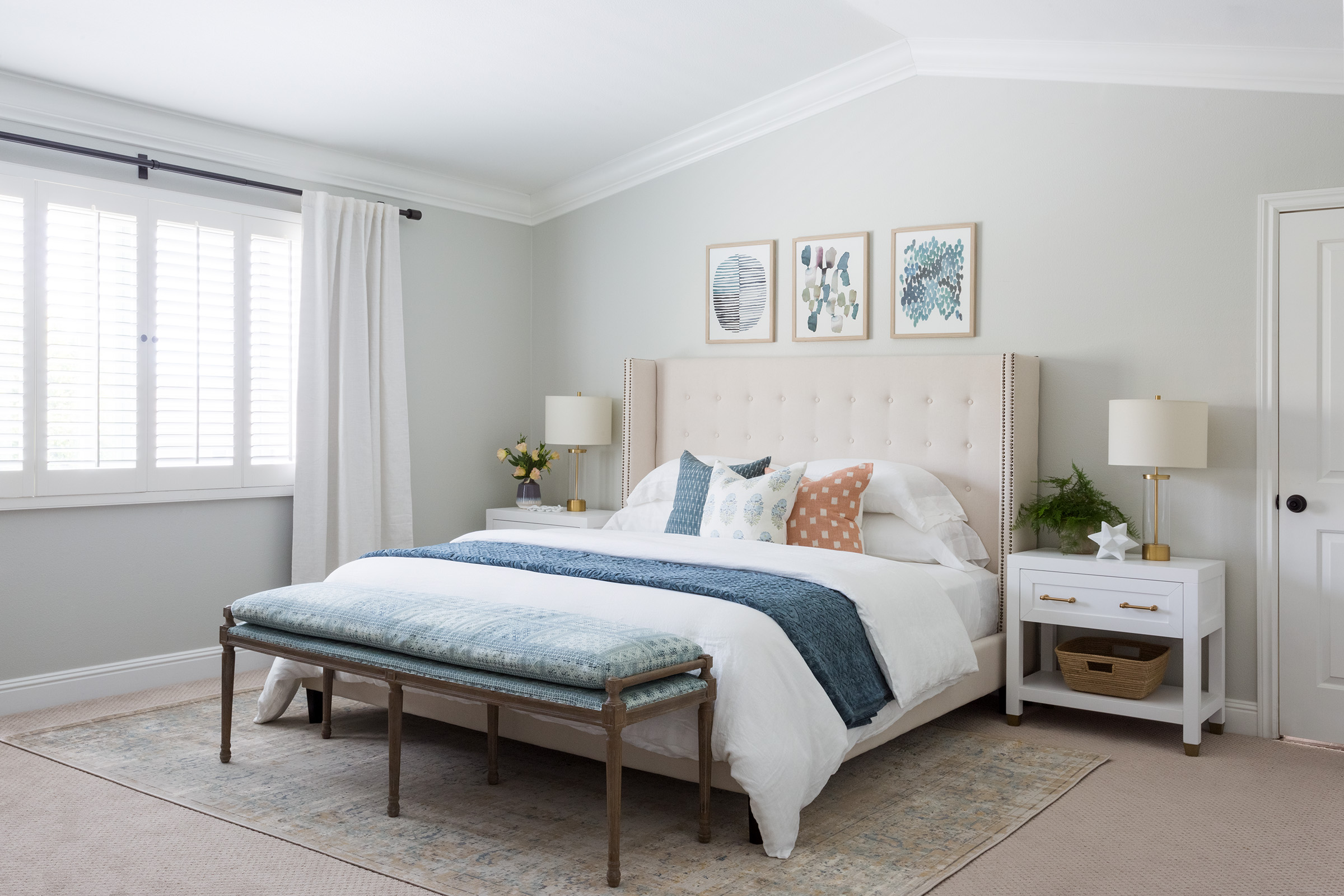 Layered California Traditional Master Bedroom Design by Lindsey Brooke Design - Los Angeles based interior designer.jpg