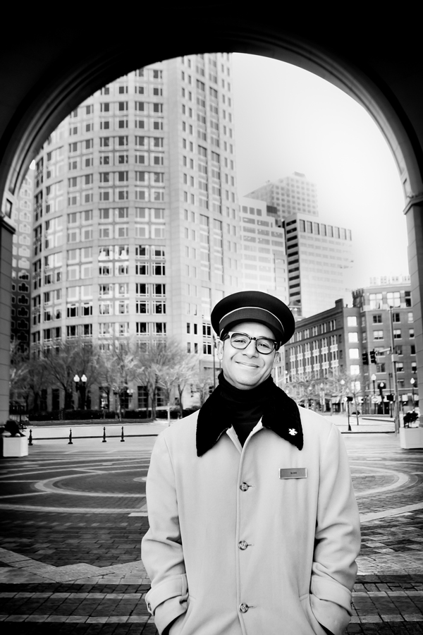 Rabie Fouinna, Boston Harbor Hotel Doorman