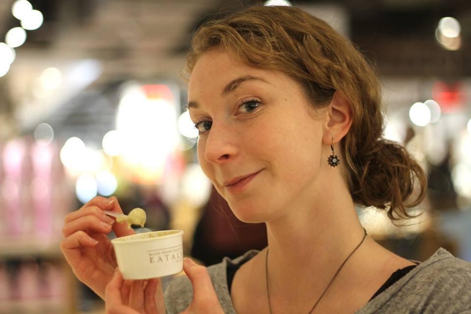 Enjoying gelato. Photo by Luba Semirog.
