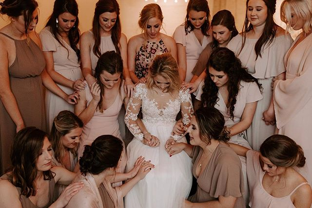 "Leading praying over @_emmaparks moments before her and @jakeparks33 said ""I Do"". This will forever be a moment that i cherish  I'm better because of you both."