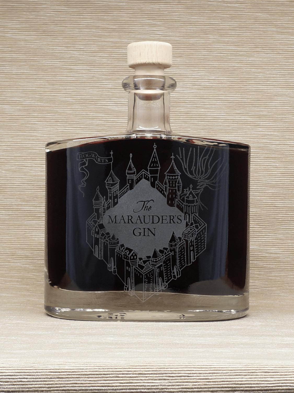 Blackberry whisky in Marauder's Gin bottle