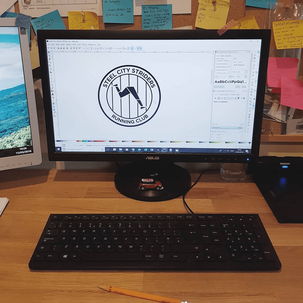 Using Inkscape on a commission for the Steel City Striders Running Club logo | Blasted, Sheffield