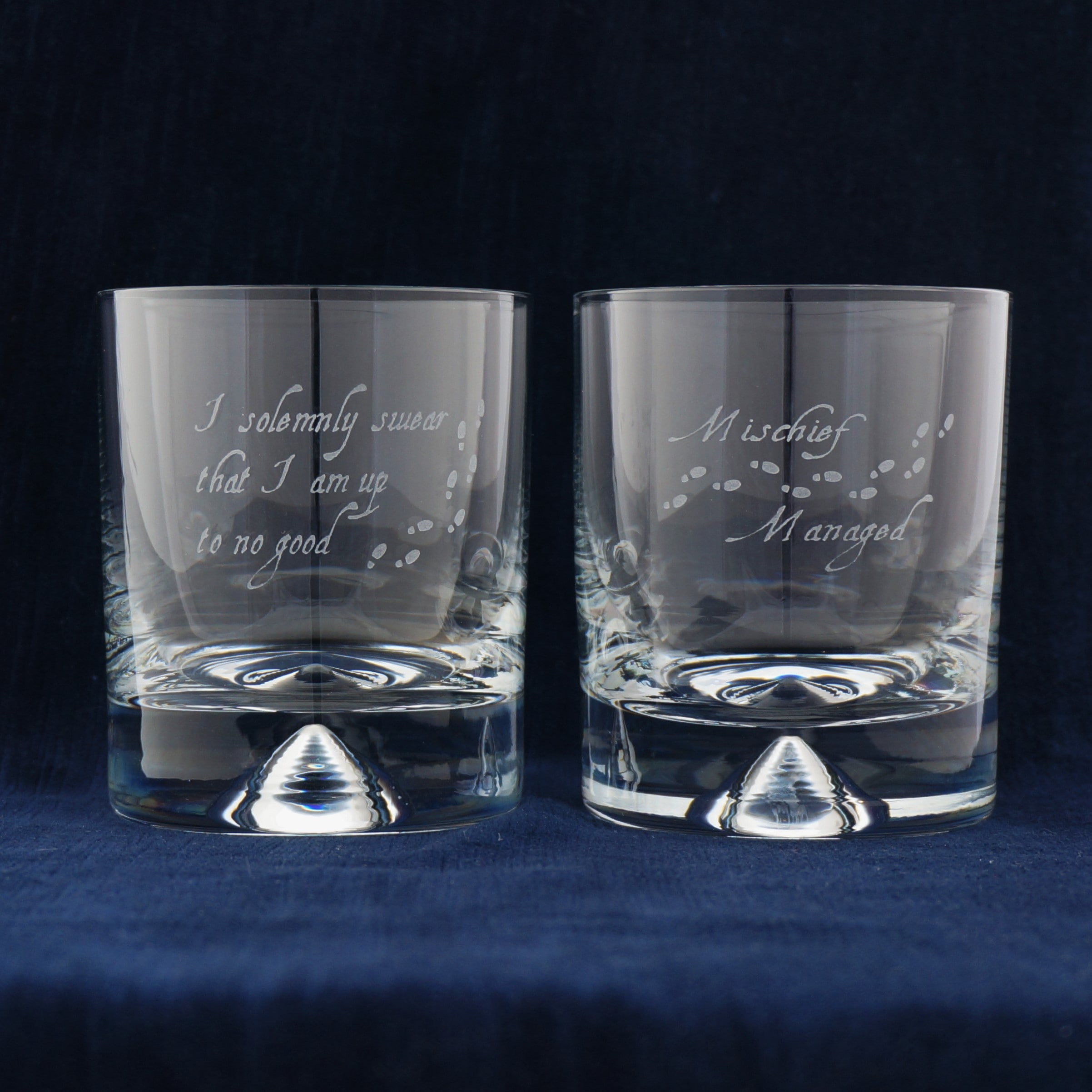 Etched glasses -