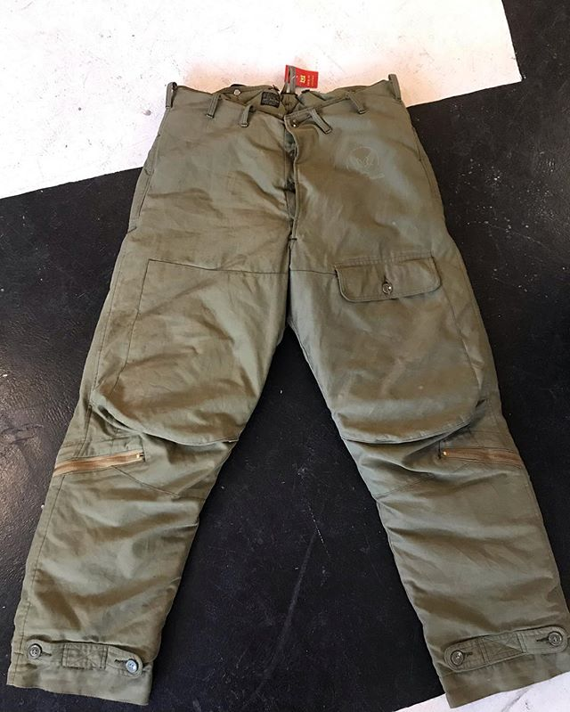 WW2 Eddie Bauer A-8 US Air Force goose down flight pants Size 40