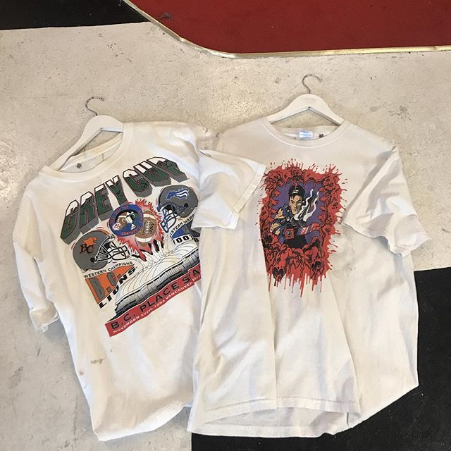 Grey cup 94' (XL) and Evil Dead musical (L) t-shirts hitting the floor today!