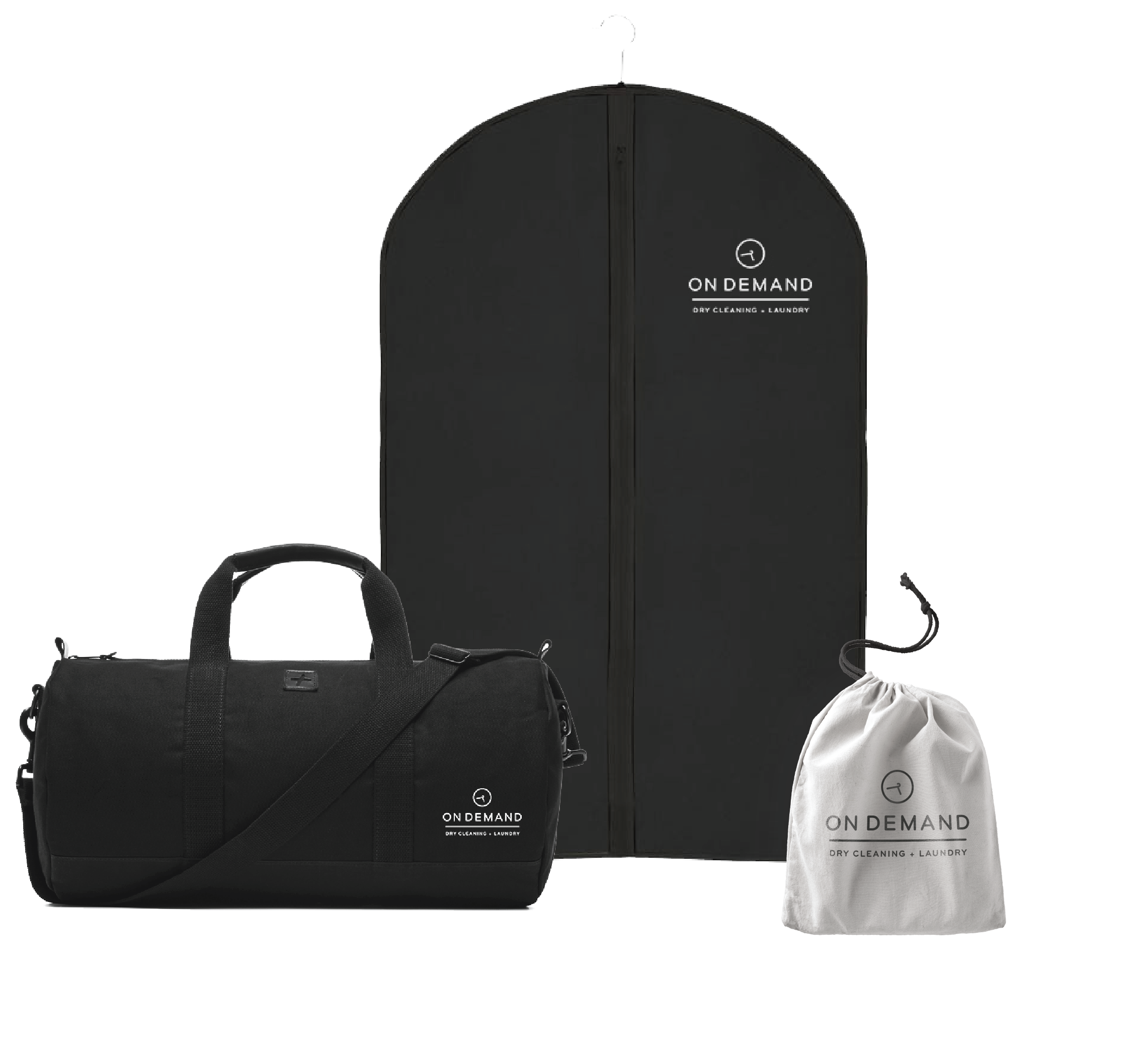 Transportation Bags: - Three different types of bags (made from recycled material) will carefully pick up, transport, and deliver our customers' laundry and/or dry cleaning. The ODDC + L logo will be on each of the bags so employees and customers know which bag to pick up and use.