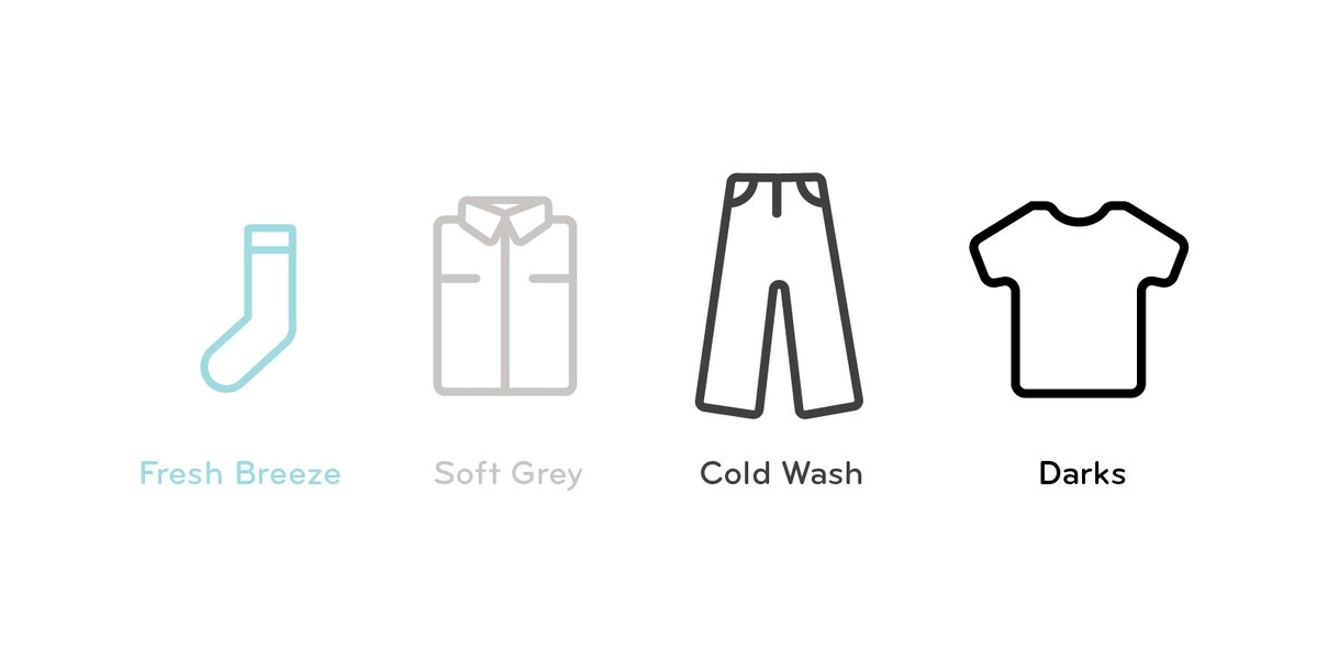 Color Palette: - Consumers want their clothing to be fresh, soft, clean, and new again. Based off of these feelings, a color palette was born.