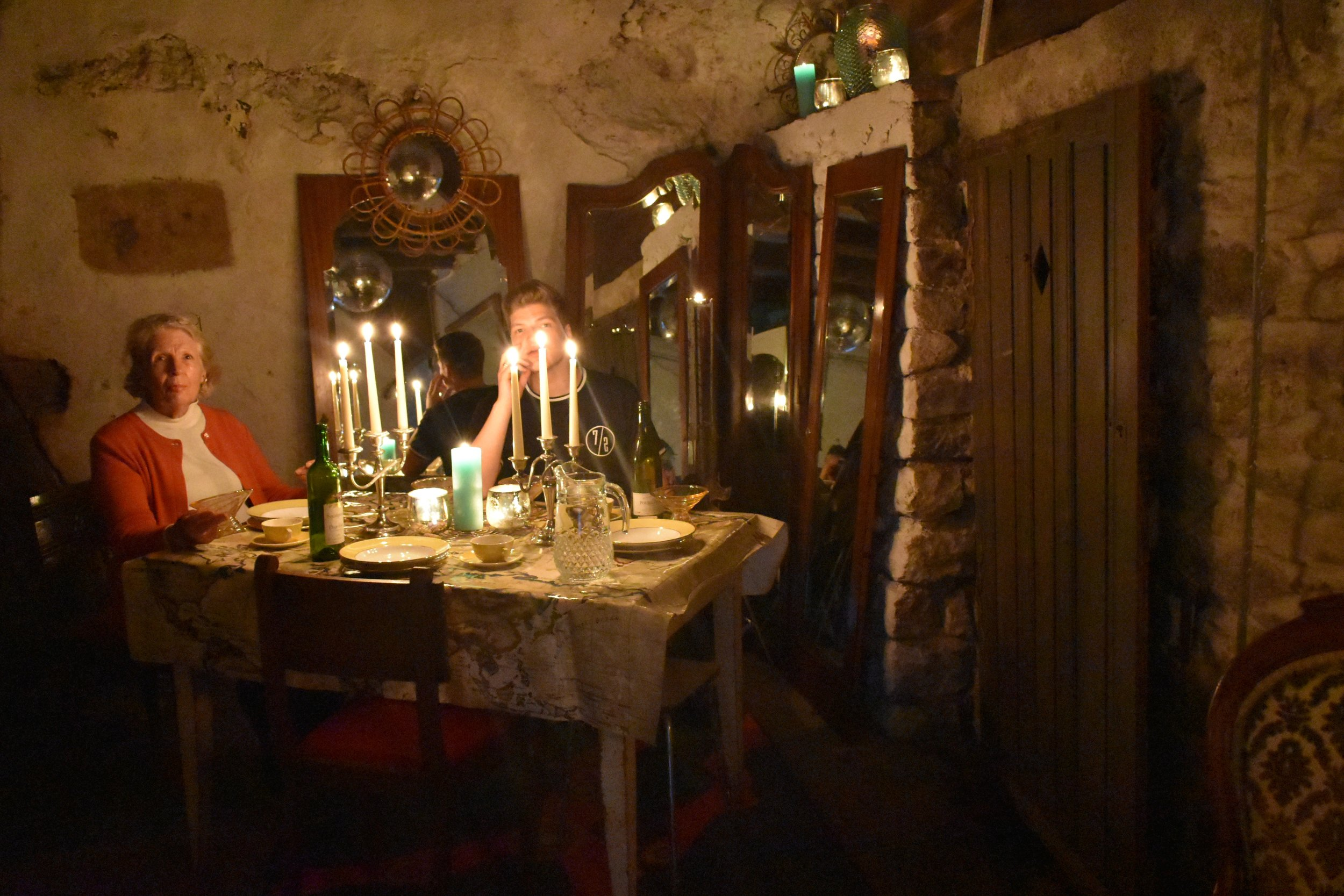 Rear kitchen/Supper room - adjacent to the crypt