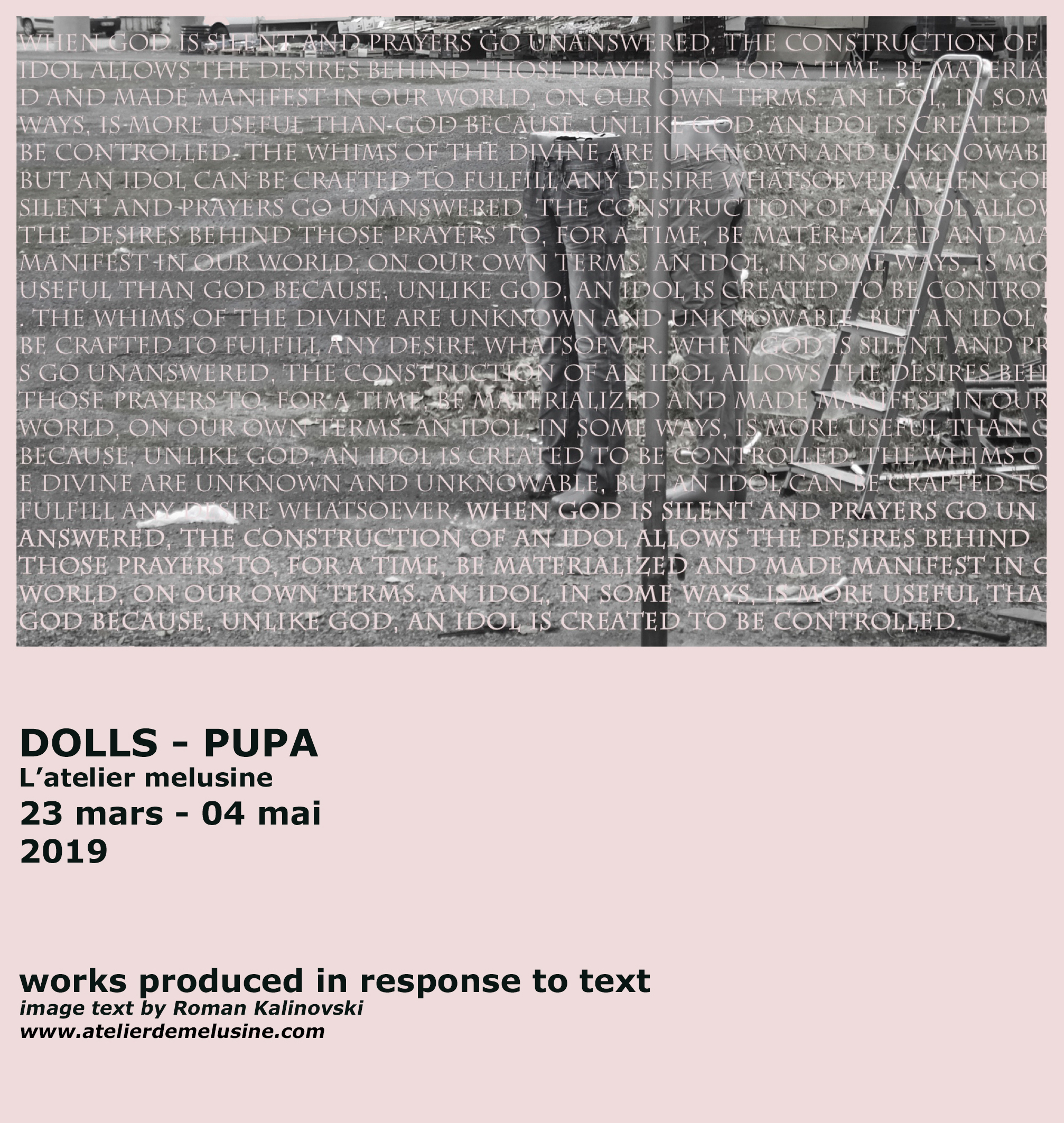 Dolls - Pupa - VernissageSamedi 23 Mars 18.00 - 21.00