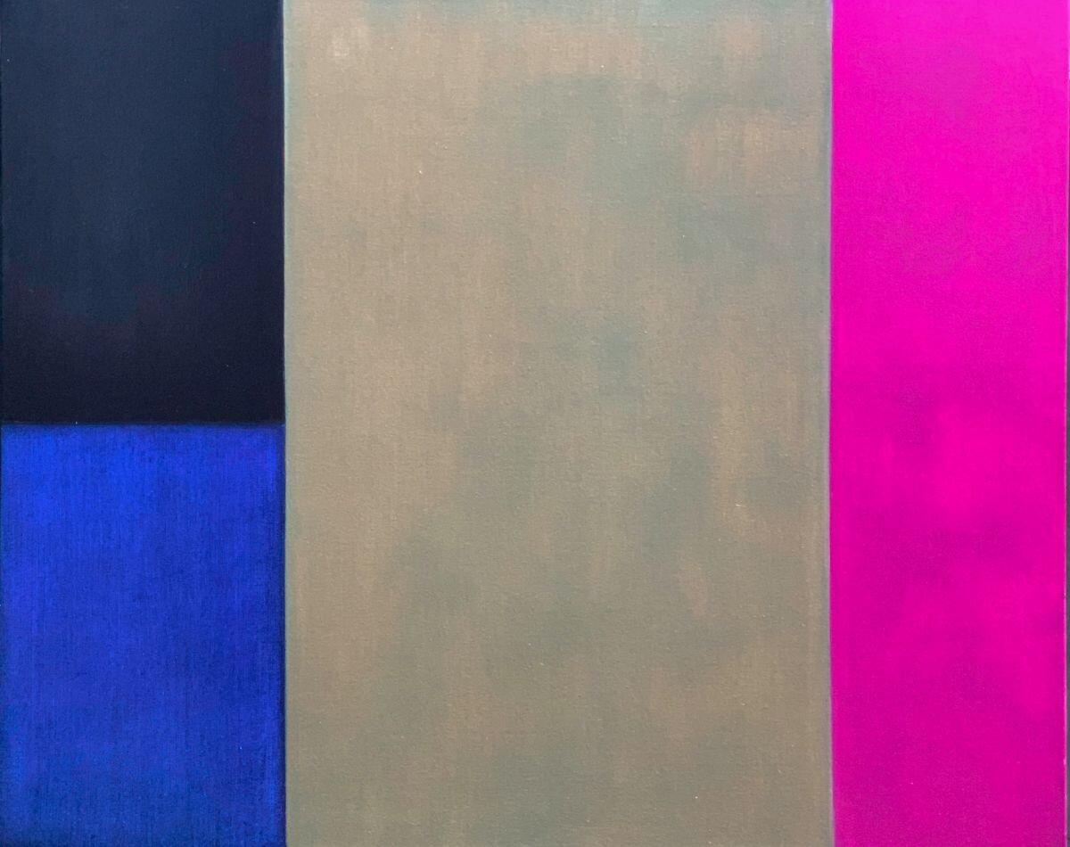 Indigo, Greenearth Pink.  John Stephens