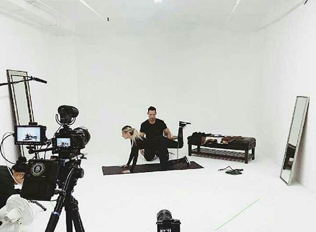 #bts with @weworewhat @sonsofstrength @fijiwater at the studio.  #Bodyworewhat #fijifit 🎥📽📸📷🎬👌