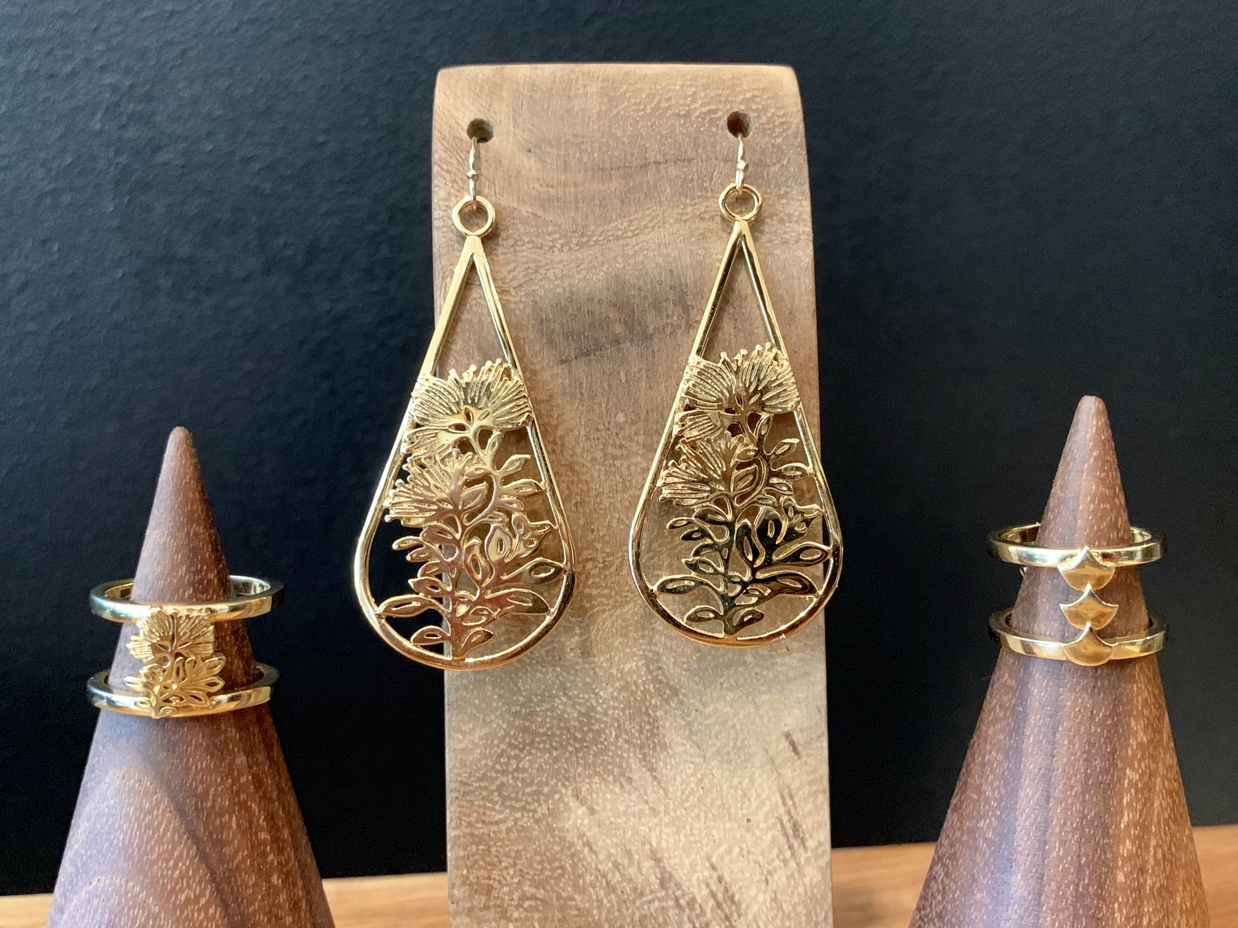 We launched our new line of custom Hawaiian designed casted jewelry - Lehua Blossom earrings and Lehua Rings