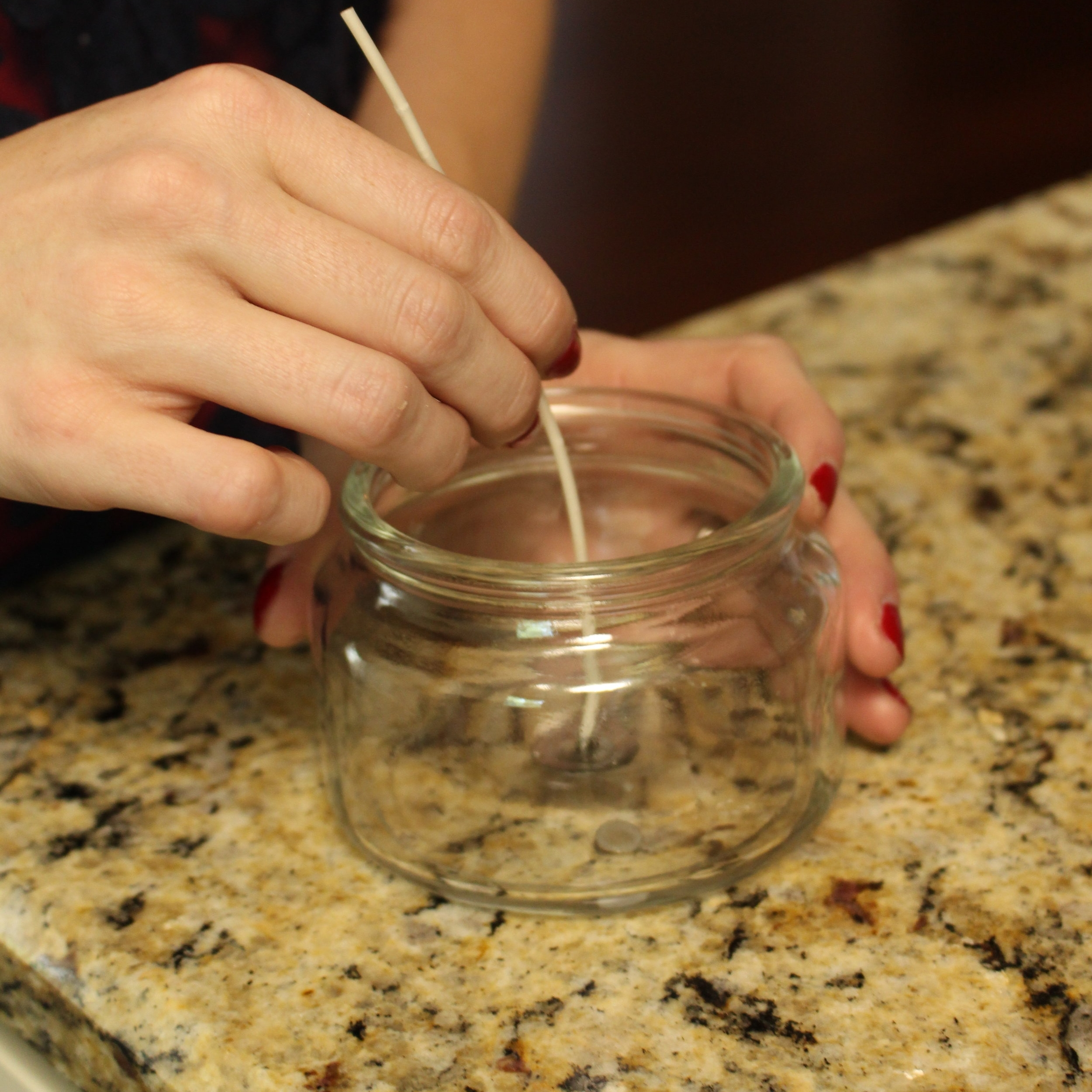 Gracefully Made DIY Candles - Wick Placement
