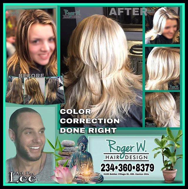 **Before And After** Need a change? Color correction? Hair styling tips? Call and book an appointment with Lee @(234)-360-8379 #beauty #blonde #colorcorrection #stylist #newstyle #youdeserveit