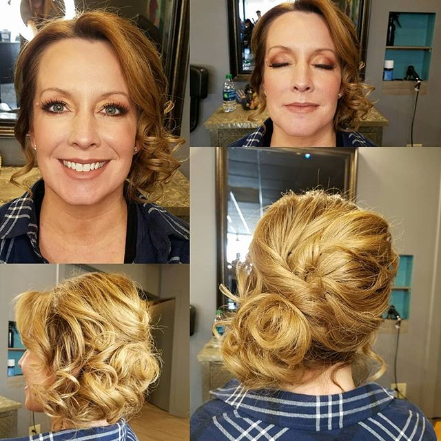 A beautiful updo and makeup application done by Brittany for the special event for MEN THAT COOK! They are having a silent auction today that includes gift certificates for Brittany! Come tonight to show your support at St. Michaels! Call and schedule your appointments with her at (234)-360-8379  Lessons, applications, special events, or just for fun ❤