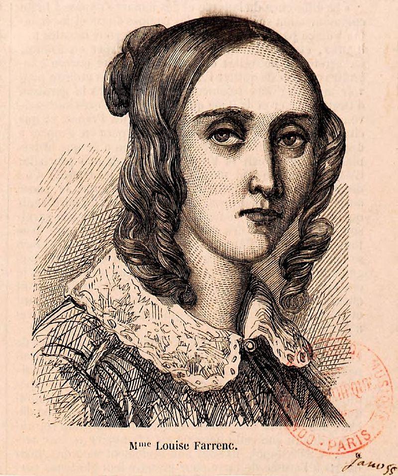 Portrait of Mme Louise Farrenc.  Bibliothèque nationale de France