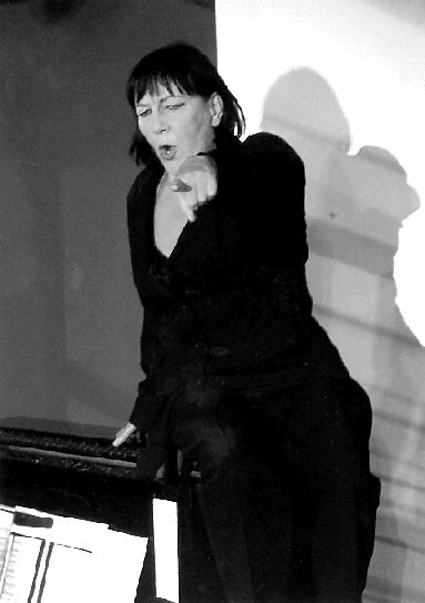 Elke Mascha Blankenburg. editor of the new edition; seen here demanding to know why you are not programming more underrepresented composers (not really, but really);  source
