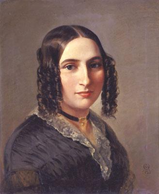 Portrait of Fanny Mendelssohn;  source