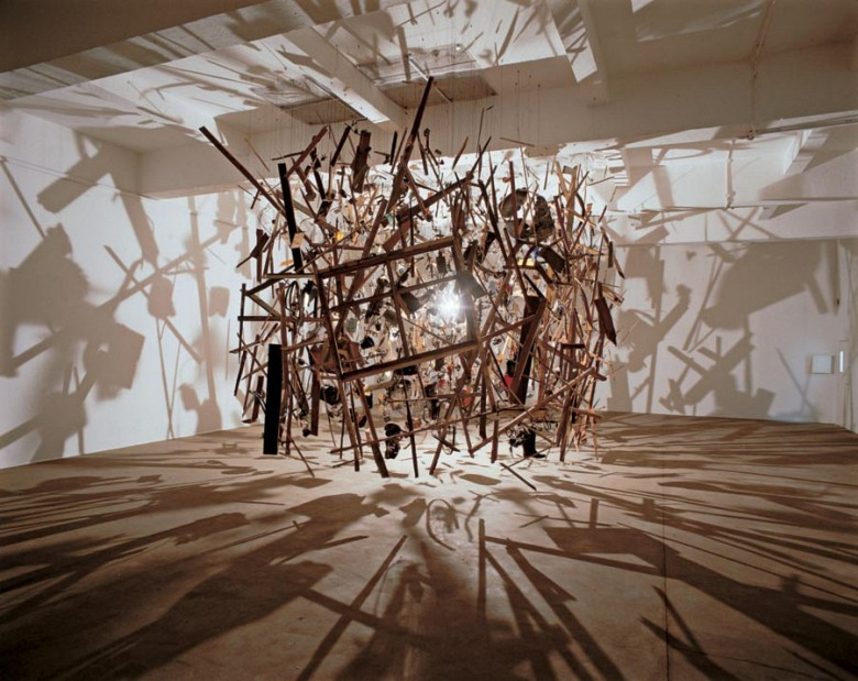 Cornelia Parker,  Cold   Dark Matter: An Exploded View (1991). Image from  Waste Effects .