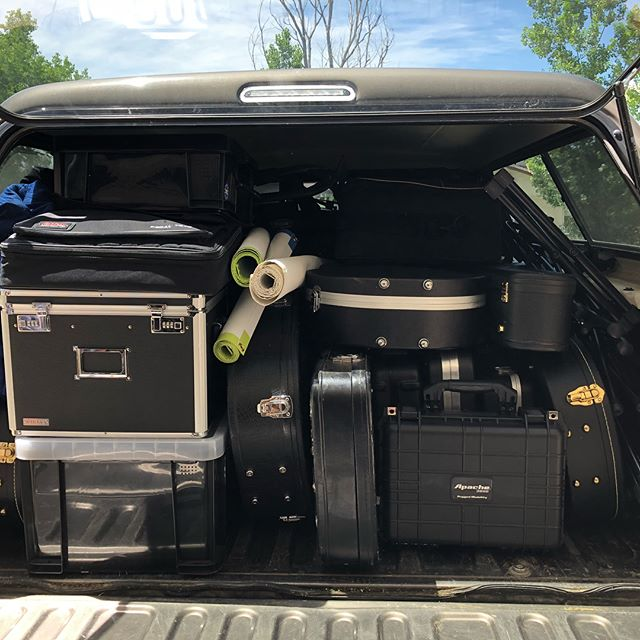 This...to this. Not shown-the second truck will all the sound gear.