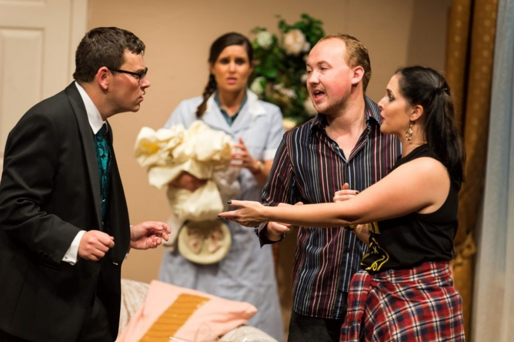Perfect Wedding With Castle Hill Players - 30th May, 2017                                           A bridegroom wakes on his wedding morning in his own bridal suite and finds a strange girl in bed beside him. His bride-to-be is due to arrive at any moment.
