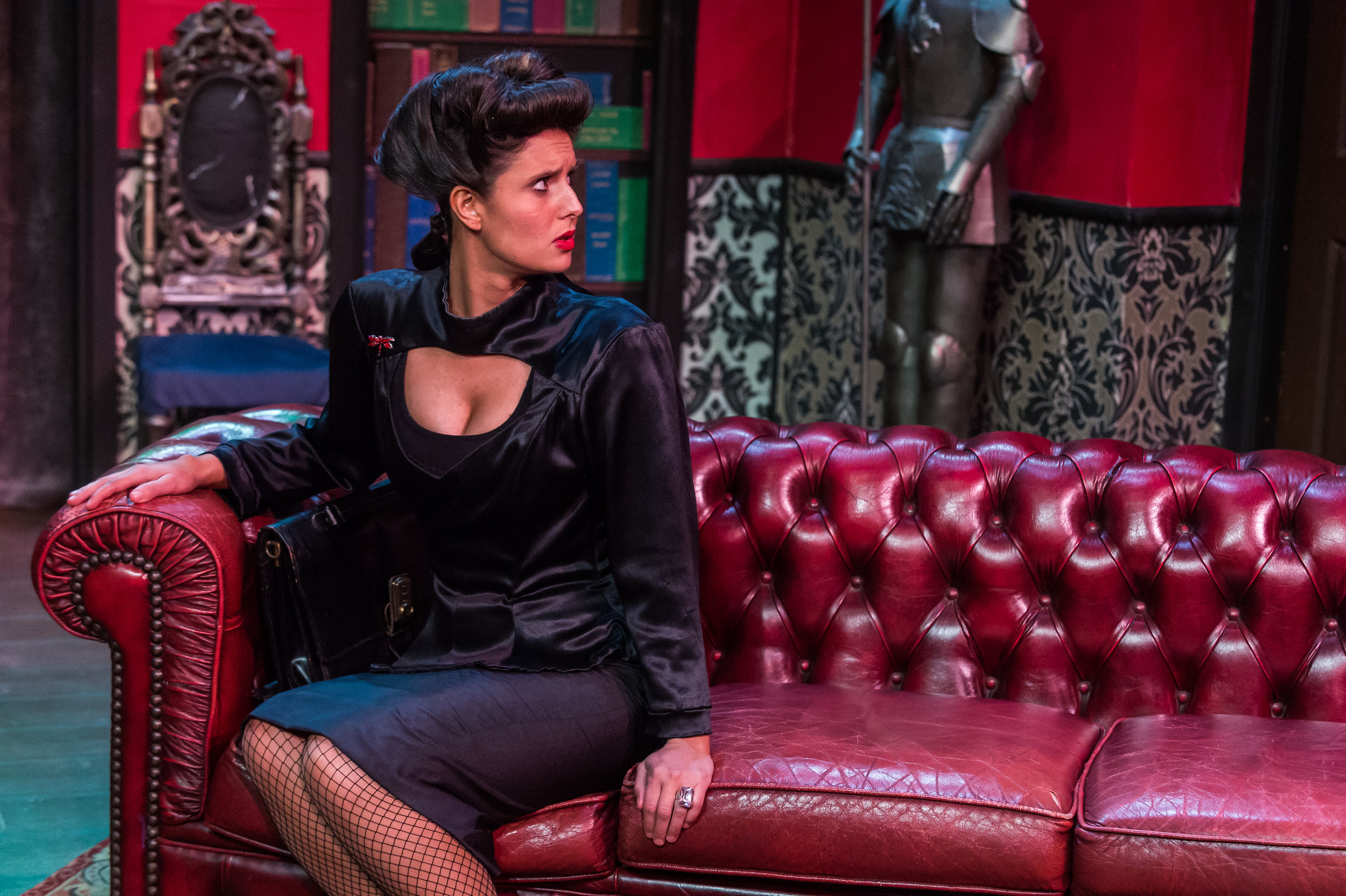 Wanted One Body - Impressive - 19th November 2017                                  Actor, Samantha Camilleri plays Anne Beale in CHP's murder comedy thriller now showing at The Pavilion.