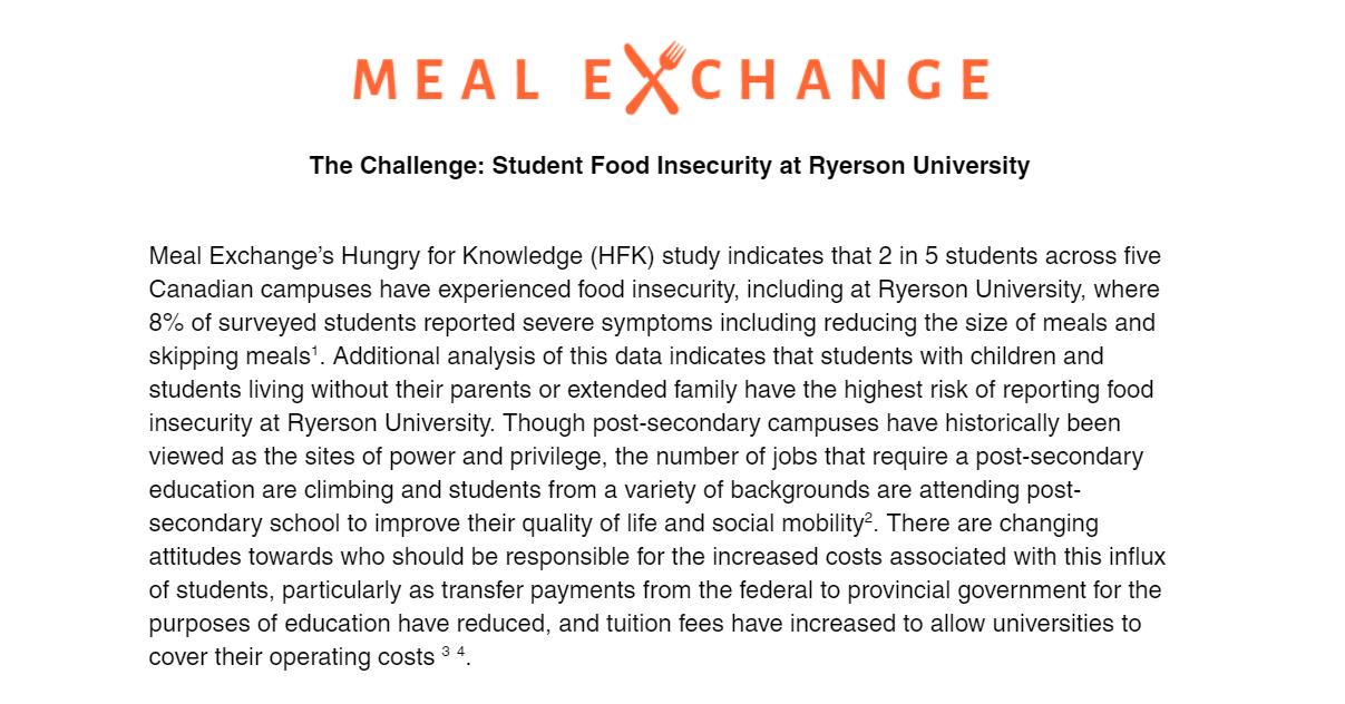 Ryerson University Challenge Brief