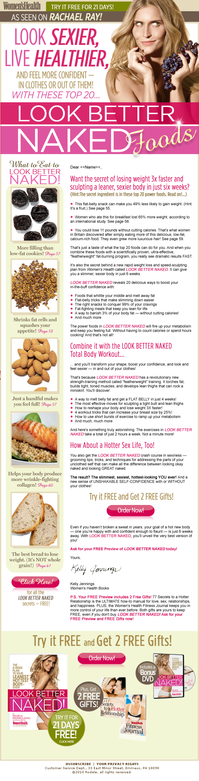 Women's Health Email Campaign