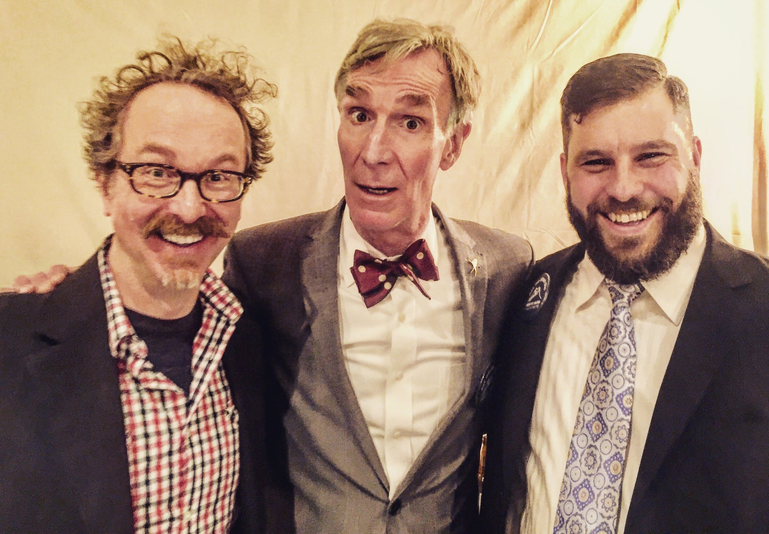 Me, Bill and Ray at the Bill Nye Live! After Party in Portland