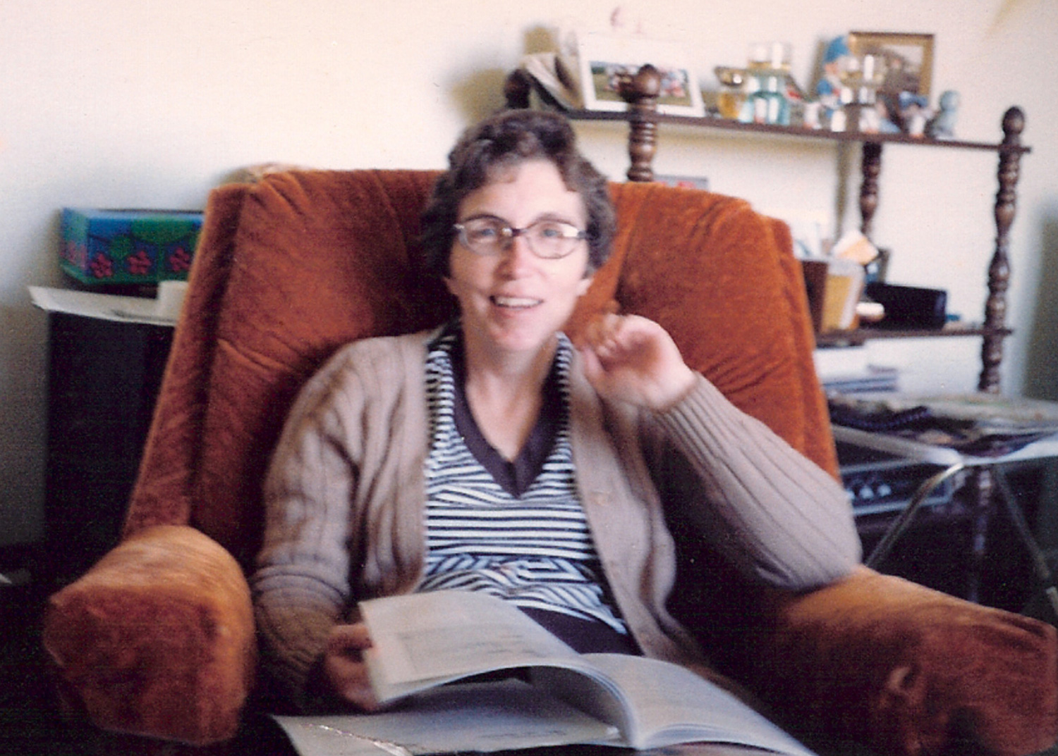 auGi's mom sitting in her fave chair circa 1977.