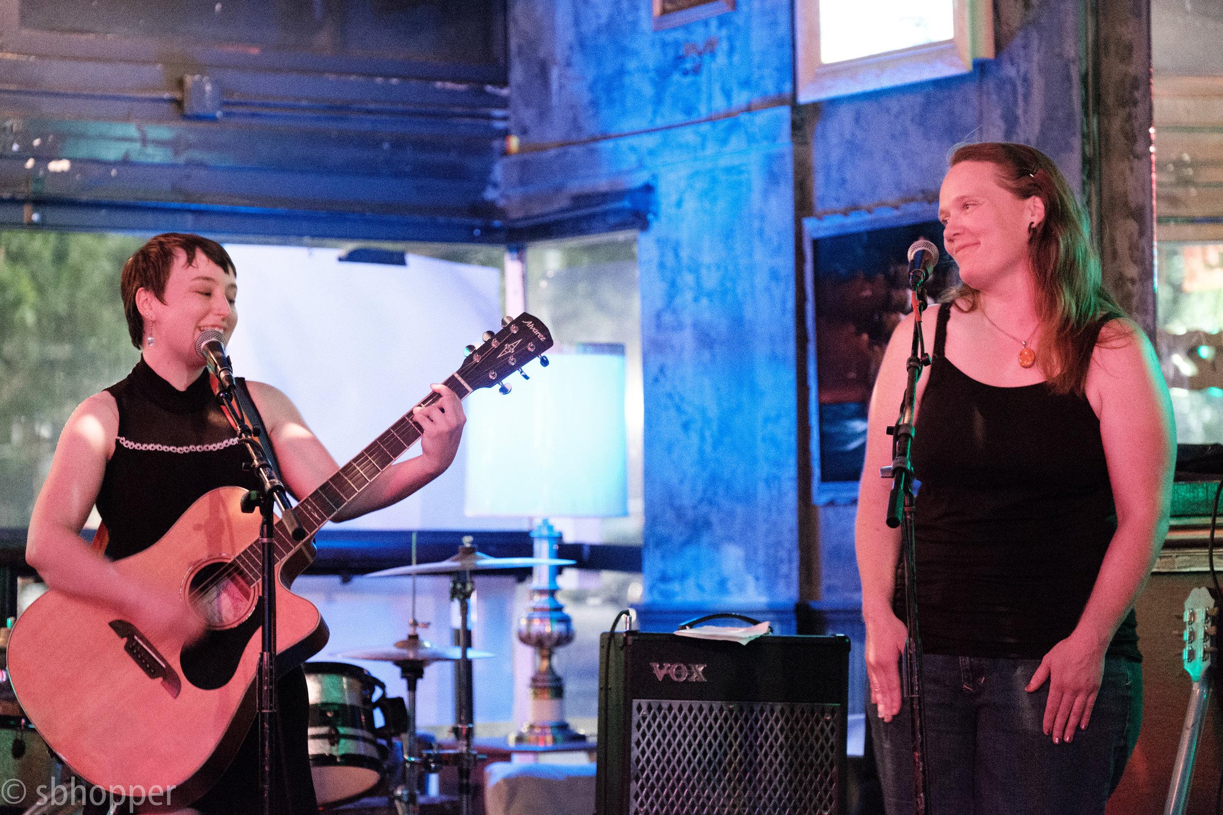 A Greene and Sandi Fernandez at Chop Suey, Seattle, 6 August 2017.
