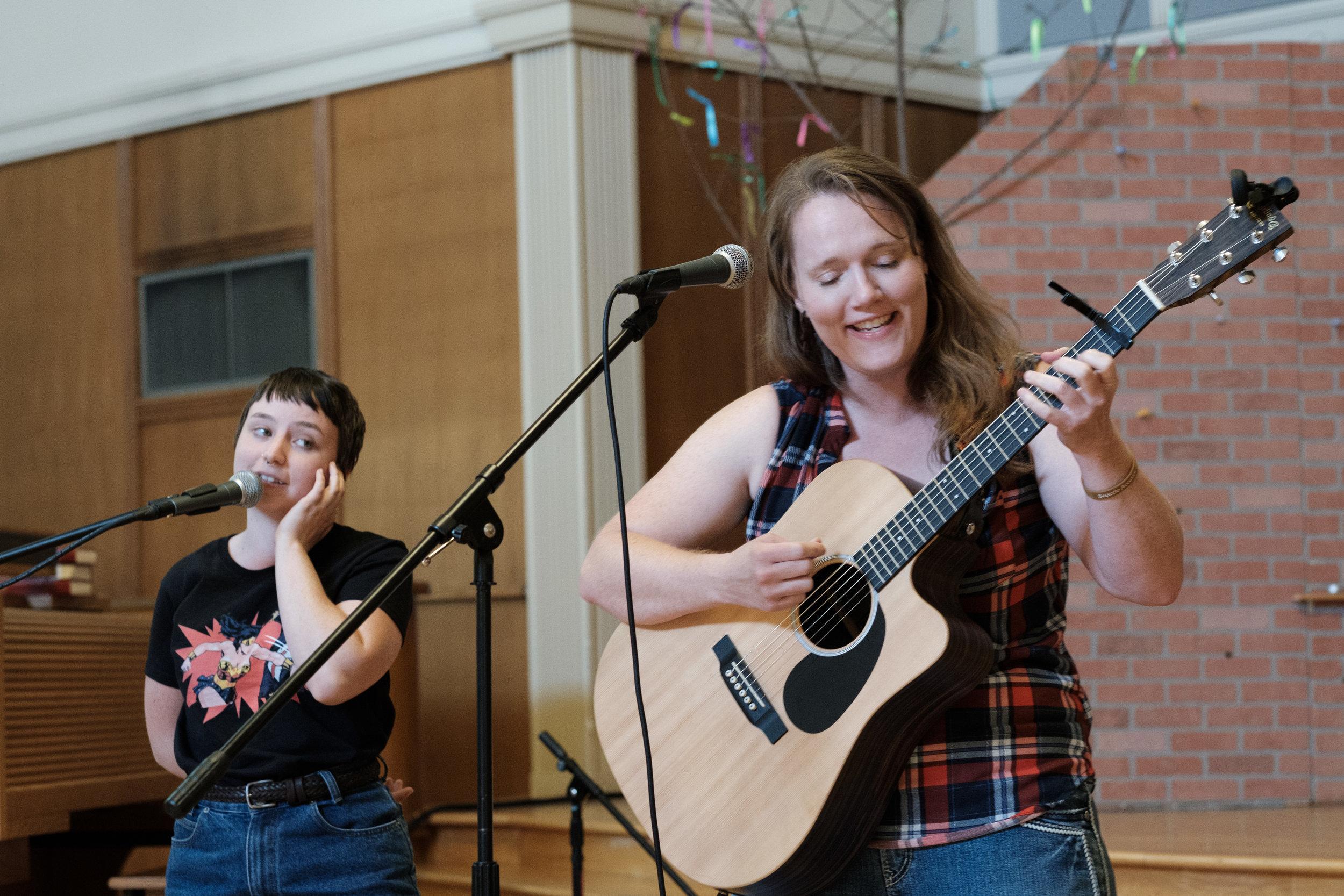 Sandi Fernandez and A. Greene, Seattle Acoustic Festival 2017.