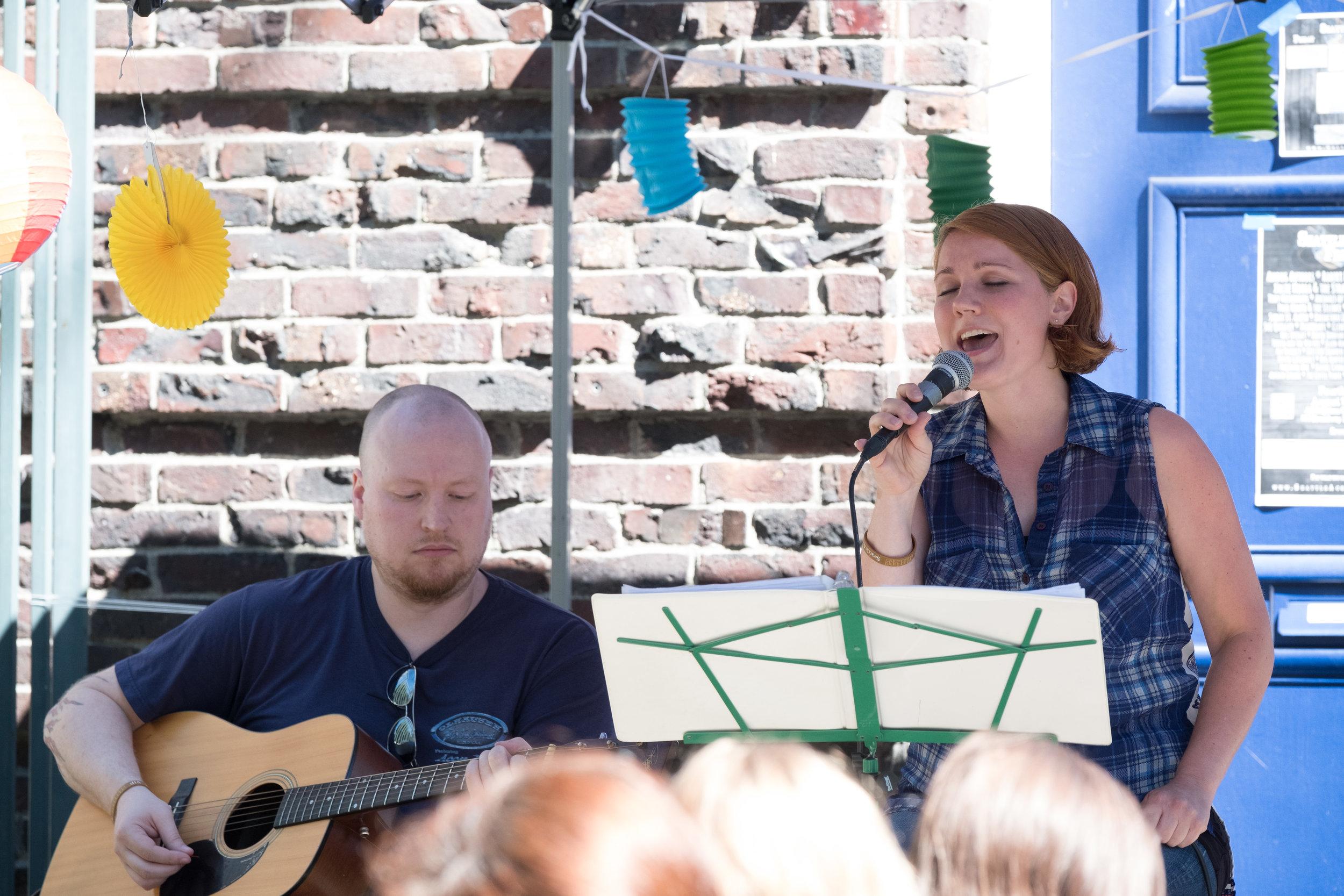 Rachel Cunha, Garden Stage, Seattle Acoustic Festival, August 2017.