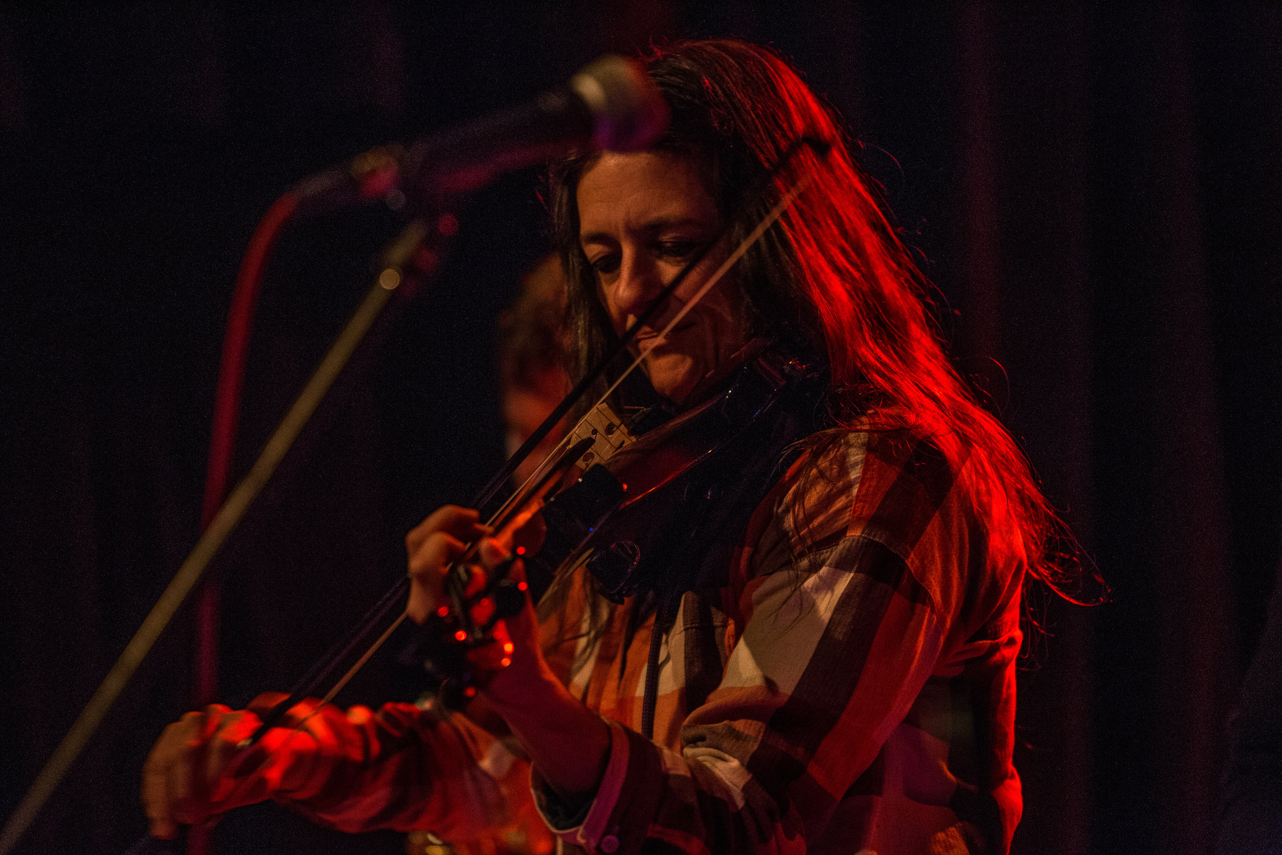 Some of the sounds coming from Alicia DeJoie's violin would be haunting and at times took on the sound of a woodwind and other times a synth.
