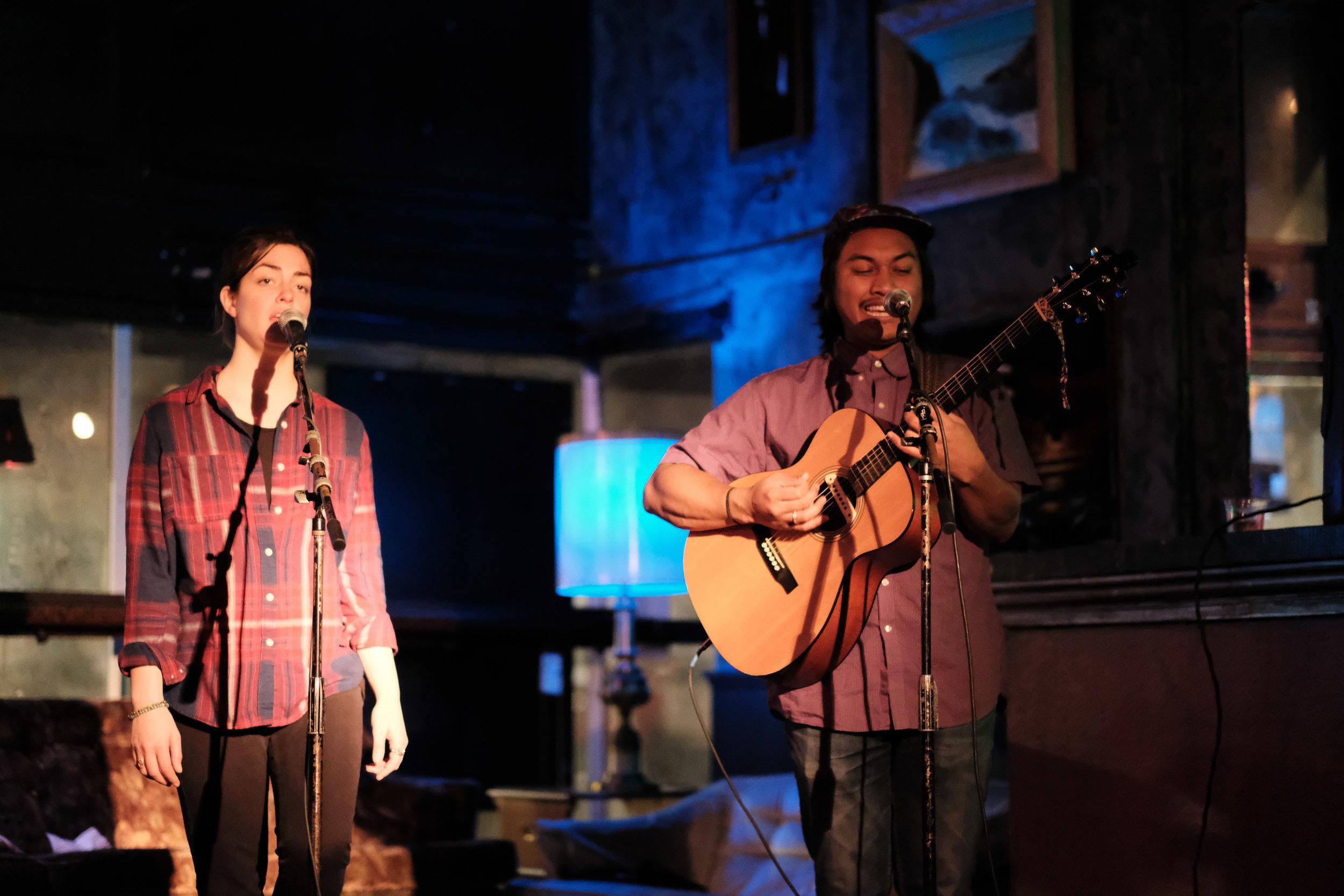 Young-Chhaylee and Hannah Abrams at Capitol Hill's Chop Suey, 21 November 2017.